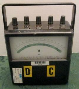Vintage 1987 Yokogawa Electric Works Portable Dc Voltmeter Type 2011 Singapore