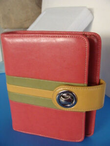 Compact 1 25 rings Franklin Covey Genuine Leather Planner Binder Turn lock