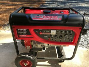 Smart Tools 11hp Portable Generator 6500w Not Used Ran 20 Minutes For Break in