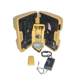 Topcon Gpt 3007 Total Station Surveying Transit Wcase charger tribrach battery