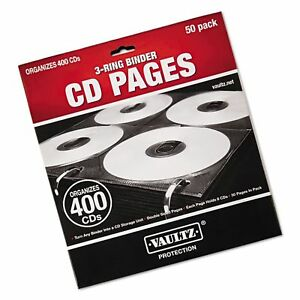Idevz01415 Vaultz Two sided Cd Refill Pages For Three ring Binder