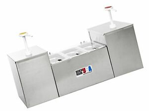 Benchmark 52001 Condiment Station With Pump 27 Width X 15 Height X 8 Depth