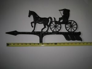 Vintage Amish Horse Buggy Weather Vane