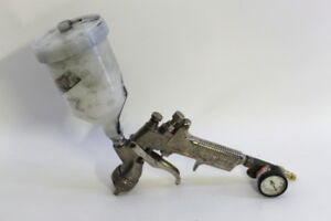 Devilbiss Paint Gun Gravity Feed Model Gti With 2000 Tip Cup Hvlp Silver