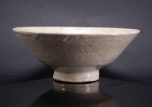 Antique Joseon Period Korean Buncheong Glazed Pottery Offering Stand Food Bowl 1