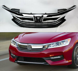 Front Replacement Upper Bumper Grille For Honda Accord 4dr 2016 2017 71121t2fxa5