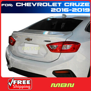 Painted Abs Rear Trunk Spoiler Wa636r Silver Ice Metallic For Chevy Cruze 16 19
