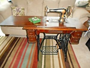 Antique 1897 Singer Egyptian Sphinx Treadle Sewing Machine