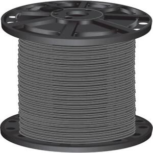 Gray Pre cut Length 2 500 Ft 10 Gauge Solid Cu Thhn Building Electrical Wire