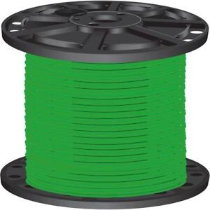 Lightweight Green 2 500 Ft 10 Gauge Stranded Cu Thhn Building Electrical Wire