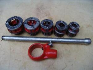 Ridgid 111 r Die Set Pipe Threader 3 8 To 1 1 4 Inch For 300 Great Shape 8