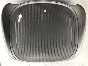 Used Herman Miller Aeron Black Size B Seat Pan Frame And Mesh With Small Bl