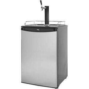 Built in Kegerator Draft Beer Keg Dispenser Home Tap Cooler Fridge Undercounter