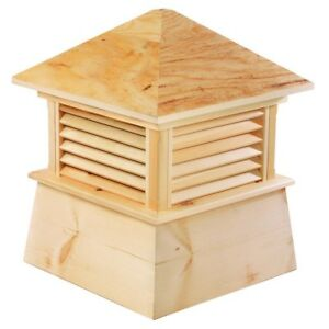 Wood Shed Gazebo Cupola Cypress Wood Rooftop Decorative Topper Sturdy Wooden New