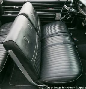 1968 Buick Skylark Custom Gs 400 350 Bench Without Armrest Front Seat Cover
