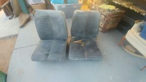 1960 S Ford Mustang Bucket Seats Black Driver Passenger Side Cougar