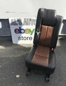 08 13 Ford Expedition Middle Row Seat Black Orange Leather Fold Down Oem
