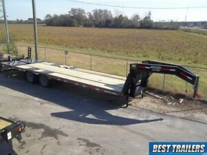 Carhauler Gooseneck 10 Ton Deckover Hd Equipment Trailer 30 Ft Flat Bed 25 5