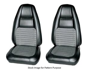 1970 Dodge Charger 500 R t Bucket Front Seat Covers With Cloth Inserts