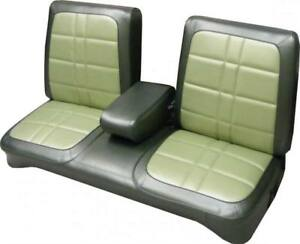 1971 Plymouth Duster Demon 340 Bench With Armrest Front Seat Cover
