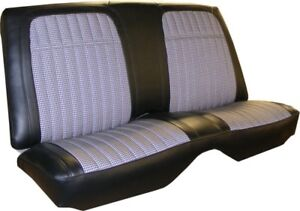 1968 Chevrolet Camaro Deluxe Cloth Insert Fold Down Rear Seat Cover