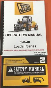 Jcb 520 40 Series Loadall Operators Manual 9801 9094