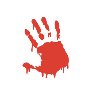 Zombie Bloody Hand Twd Apocalypse Walking Dead Decal Sticker For Car Truck Suv