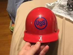Brand New Msa Skullgard Hard Hat Medium Size Nos Red With 2 Liners