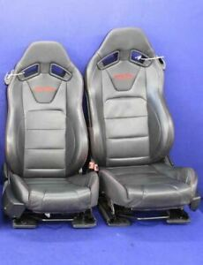 2015 2017 Ford Mustang Track Pack Recaro Red Stitch Leather Oem Front Seats