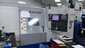 Used 2004 Daewoo Puma 2000sy Cnc Live Tool Y Axis Sub Spin Turning Center Lathe