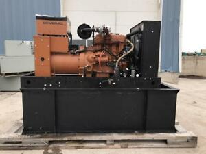 __30 Kw Generac Generator Set 12 Lead Reconnectable 120 240 Volts Year 1989