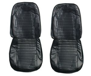 1969 Camaro Standard Front Seat Upholstery Covers In Black By Pui
