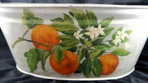 Antique Hand Painted Foot Bath