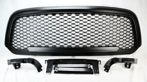 Front Upper Matte Black Honeycomb Mesh Style Grill For Ram 1500 2013 2017