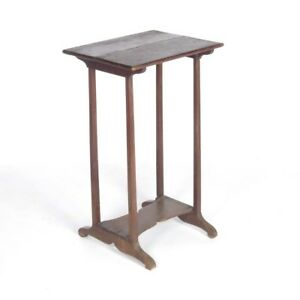 Antique Walnut End Table Country Side Stand Primitive 19th C Rustic