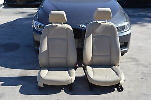 06 08 E92 Bmw 328i 325i Front Left And Right Seat Tan Leather Sport Seats Pair