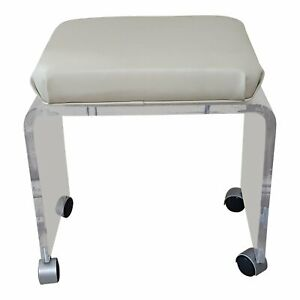 Lucite Acrylic Vanity Stool Bench Vintage Hollywood Regency Mid Century 20lbs