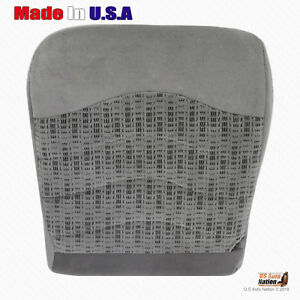 1999 2000 Ford F250 F350 F450 F550 Xlt Front Driver Bottom Gray Cloth Seat Cover
