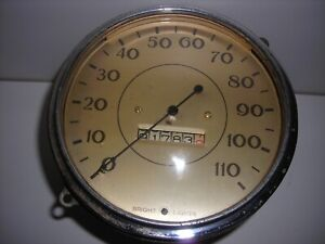 Vintage Speedometer 5 Inch Dia Looks Very Old 110 Mph Brand Unknown