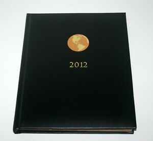 2012 American Express Executive Leather Appointment Planner Book Prop Calendar