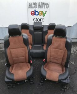 10 15 Ford Taurus Sho Seats Black Leather Orange Cloth Power Full Set Oem