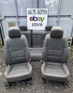 14 15 Chevy Impala Seats Gray Leather Cloth 2 Tone Driver Power Full Set Oem
