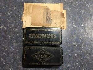 Vintage Sewing Machine Tools Attachments Boxes