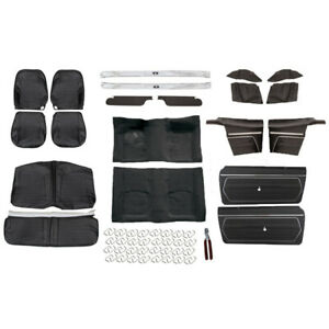 Basic Black Interior Kit 1969 Camaro Convertible Bucket Seats