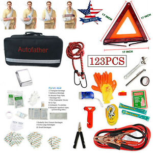 Pack Of 123pcs Car First Aid Kit Medical Emergency Kit Treatment Pack Camping
