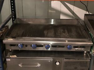 Imperial Igg 48 Griddle Countertop Gas 48 w X 24 d 1 Thick Grooved Plate