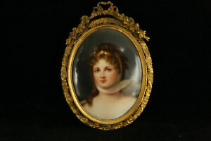 Berlin Kpm Style Porcelain Portrait Plaque Queen Louise 100 Hand Painted