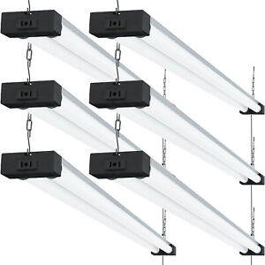 Sunco 6 Pack Led Industrial Shop Light 40w 260w 5000k Daylight 4000 Lm