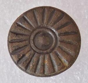 Antique Spanish Colonial Button 15 16 Cast Pewter Wheel Design