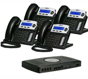 Xblue X16 With Charcoal 4 Phones And Amp Server